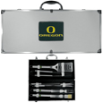 Oregon Ducks 8 pc Stainless Steel BBQ Set w/Metal Case